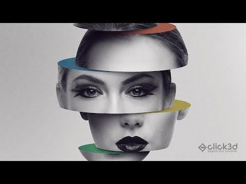 (22) how to create sliced color head - inspired by Magdiel Lopez - Photoshop manipulation tutorials - YouTube