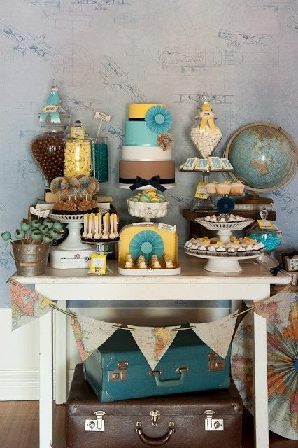Bon Voyage party buffet..hoping to have one of these soon! :)