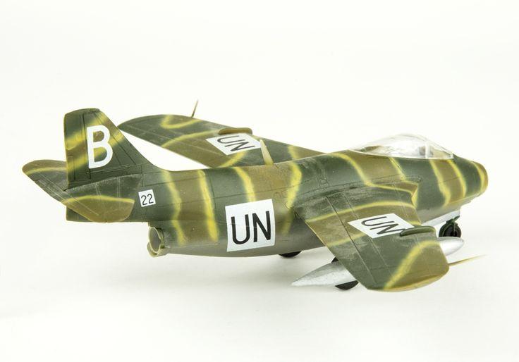 Model aeroplane Saab 29 Tunnan   Flygvapenmuseum   CC BY