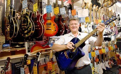 Toowoomba's Mr Music, Owen Ray at his store International Music.