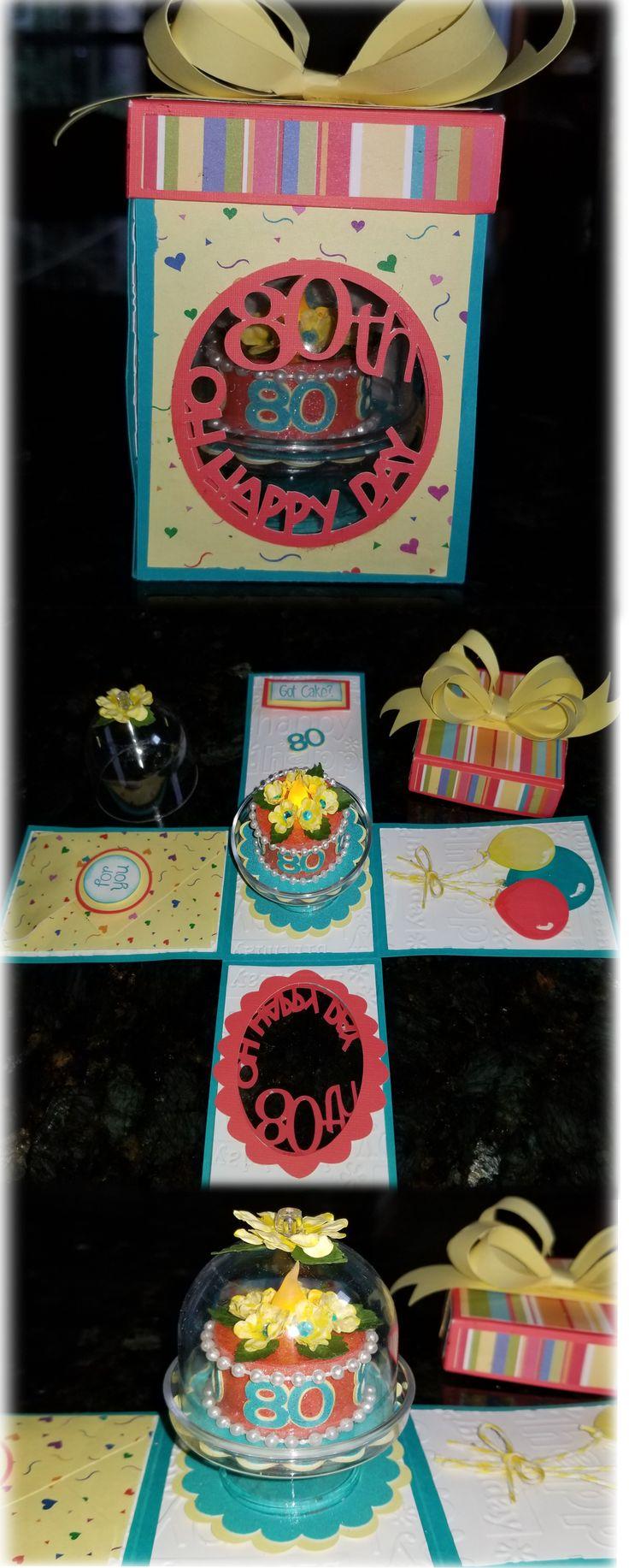 Mom's 80th Birthday Tea Light Box & Cake Birthday box