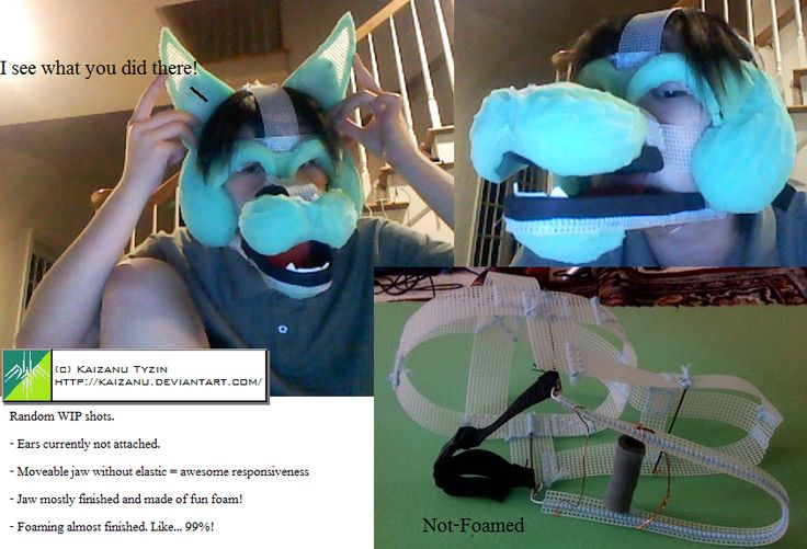 WIP: Fursuit Head -- Kaizanu by Kaizanu.deviantart.com on @deviantART