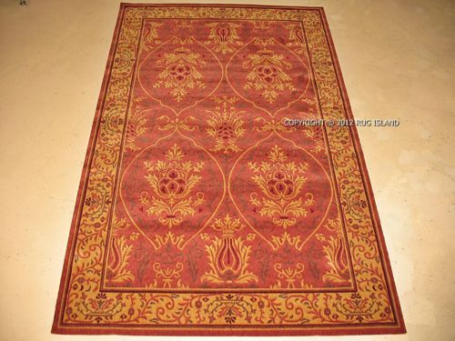 10x13 William Morris Arts Crafts Mission Style Coral Wool Area Rug | EBay