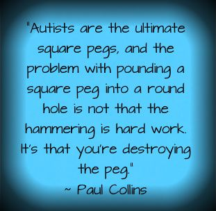 I like the quote. The linked article is good but seems really basic. We really need more resources for autistic adults because autistic children become autistic adults.