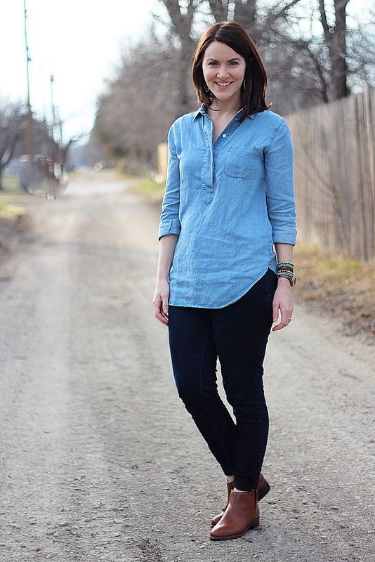 Style: Chambray with jeans