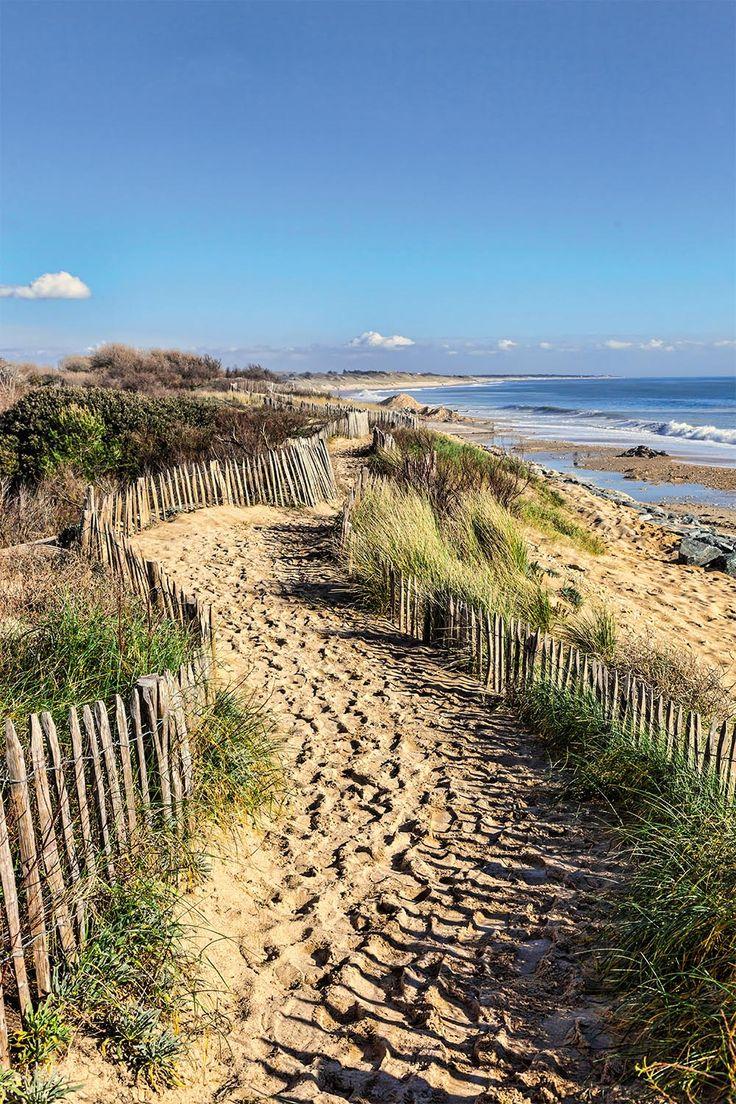Sentier du littoral - Poster bord de l'océan chemin en trompe-l'oeil