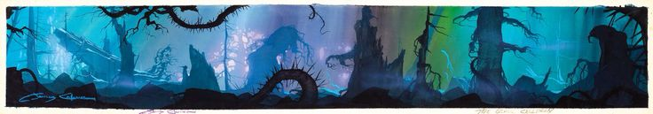 James Coleman Signed Background Concept Painting from The Black Cauldron