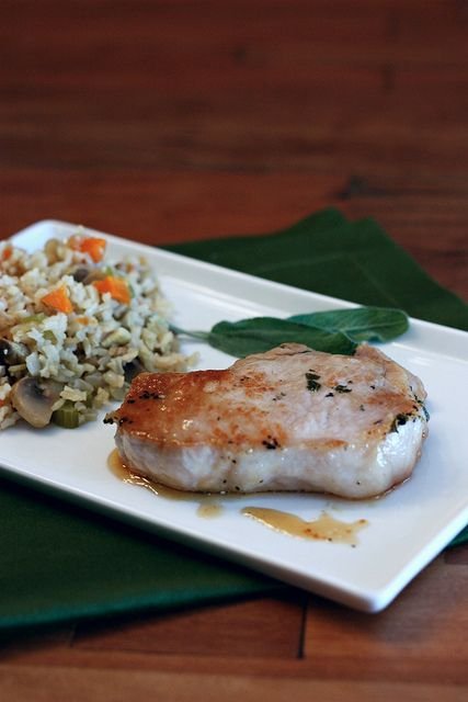 sage brined pork chops | I will be making this...someday | Pinterest