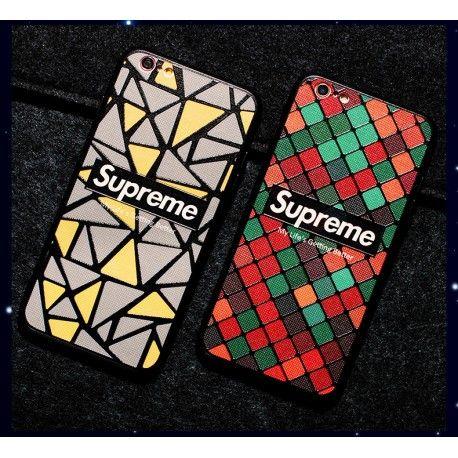 超個性的なシュプリーム supreme iPhone6s/7/8 plusケースで、幾何学模様デザインのシリコン製のソフトカバーで、浮き彫り細工で、立体な感じがします。