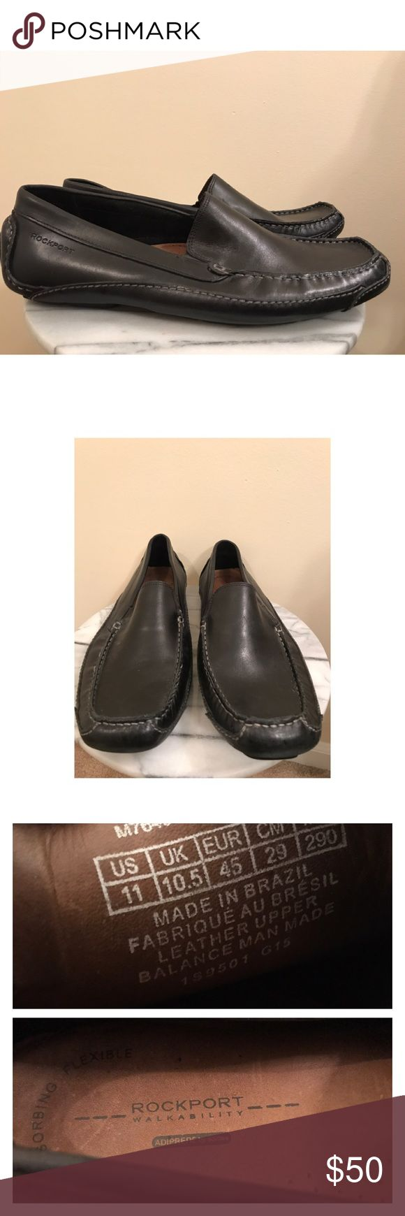 Rockport men's driving loafer 11 Almost new black leather men's driving loafer from Rockport size 11. Slight scuffing which could be buffed out with polish. Rockport Shoes Loafers & Slip-Ons
