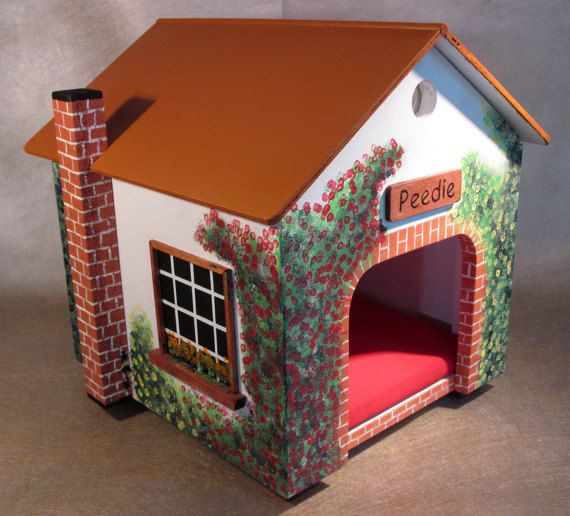 2017 MODEL COMING SOON!  The cottage in the photo has sold. Once you place your order I will start making your I of a kind Cottage that will look very similar to one on the photo. Each cottage is lovingly hand-crafted individually hand-painted making each one unique and different from the other. Finished with a top coat of Velspar project perfect matte to protect the house from moisture.  Once you have placed your order, which includes you being able to select the name of the cottage that…