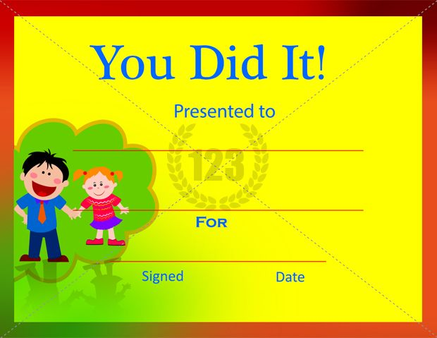you did it certificate template free and premium download