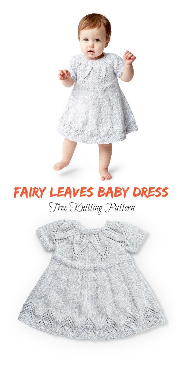 Fairy Leaves Baby Dress Free Knitting Pattern | Knitting | Pinterest ...