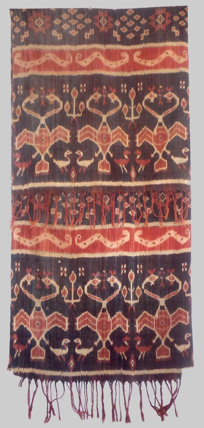 Cotton, warp ikat panel. Sumba, Indonesia, early 19th century
