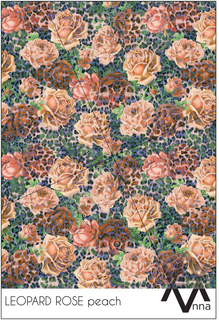 LEOPARD ROSE peach