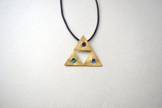 zelda jewelry/triforce necklace/ zelda triforce by AbyCraft