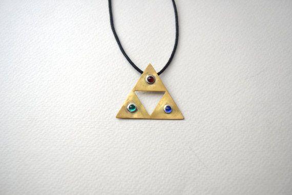 zelda jewelry/triforce necklace/ zelda triforce by AbyCraft