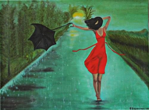 Картина : Танец дождя Художник Гейдарова Гюля Фархад