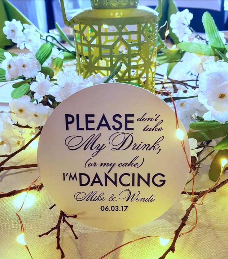 Please Don't Take My Drink (or my cake!) I'm Dancing Wedding Reception Coasters   Photo Credit: Wendi Reardon