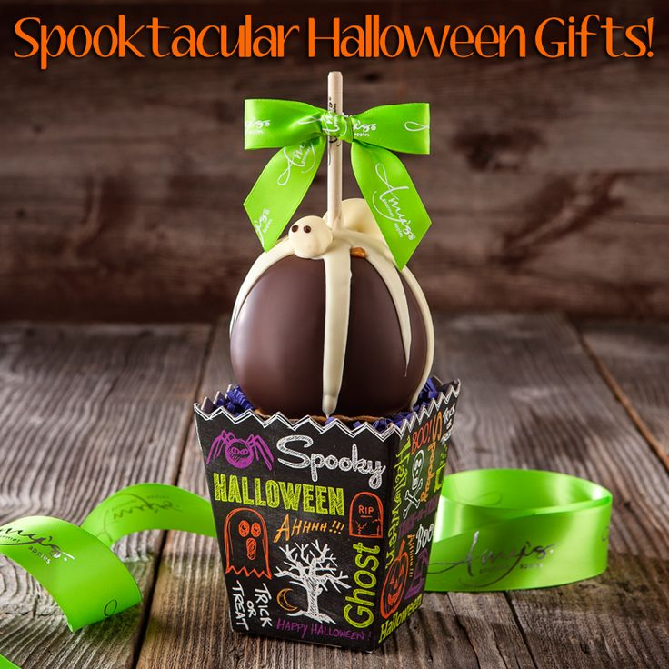 Our Spooktacular Halloween Treats Are Here! Ghoulish Caramel Apples, Bootiful Gourmet Gift Baskets & More! #ShareTheLove
