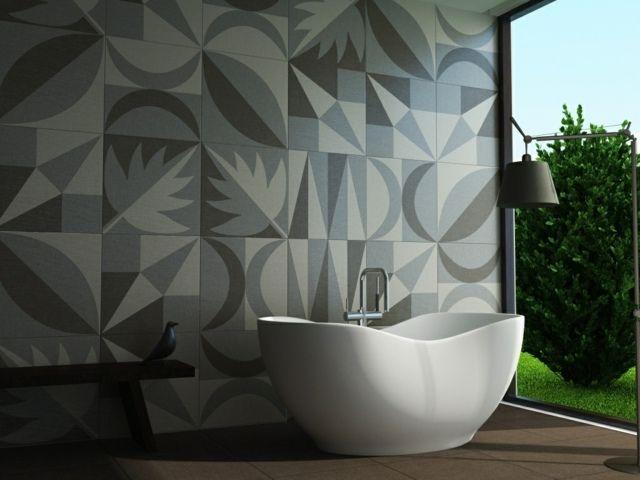carrelage salle de bains avec des dessins super sympas