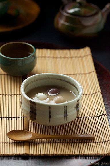 Japanese sweets, Oshiruko. is this what I think? I hope so... if it is it's wonderful