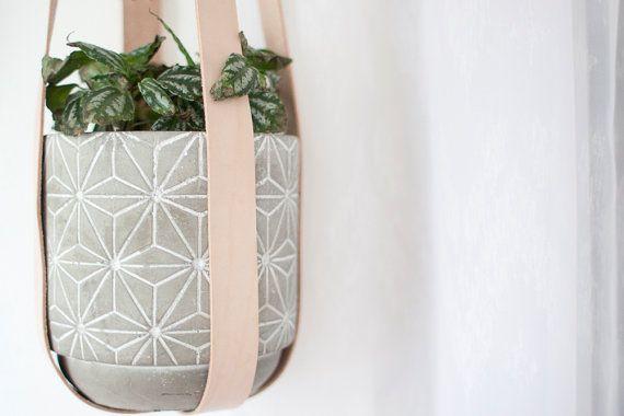 Leder-Pflanze-Aufhänger Topf-Aufhänger Hängende von KindaLovely
