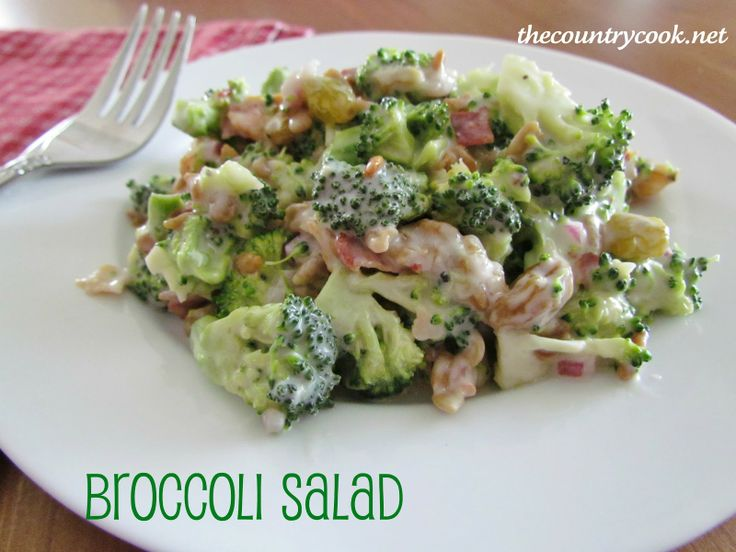 The Country Cook: Broccoli Salad