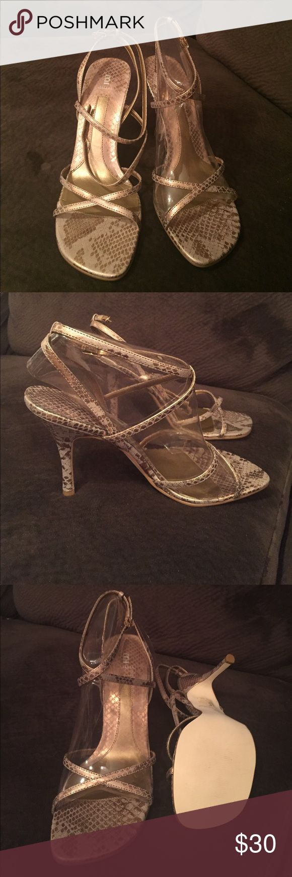 Bakers Shelly 2 gold snake print strappy sandal Bakers Shelly 2 gold strappy sandal. Size 10 Never worn Bakers Shoes Sandals