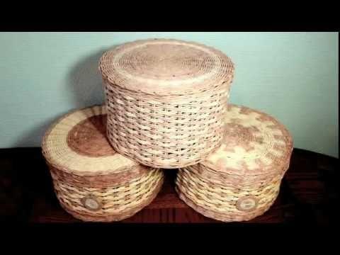 (6) Шляпная коробка - корзинка - YouTube