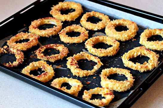 oven-fried-onion-rings-recipe: Onion Rings Might, Onions, Yummy Recipes, Oven Fried Onion Rings Recipe, Tasty Recipes, Onion Rings Very, Favorite Recipes, Cooking Recipes