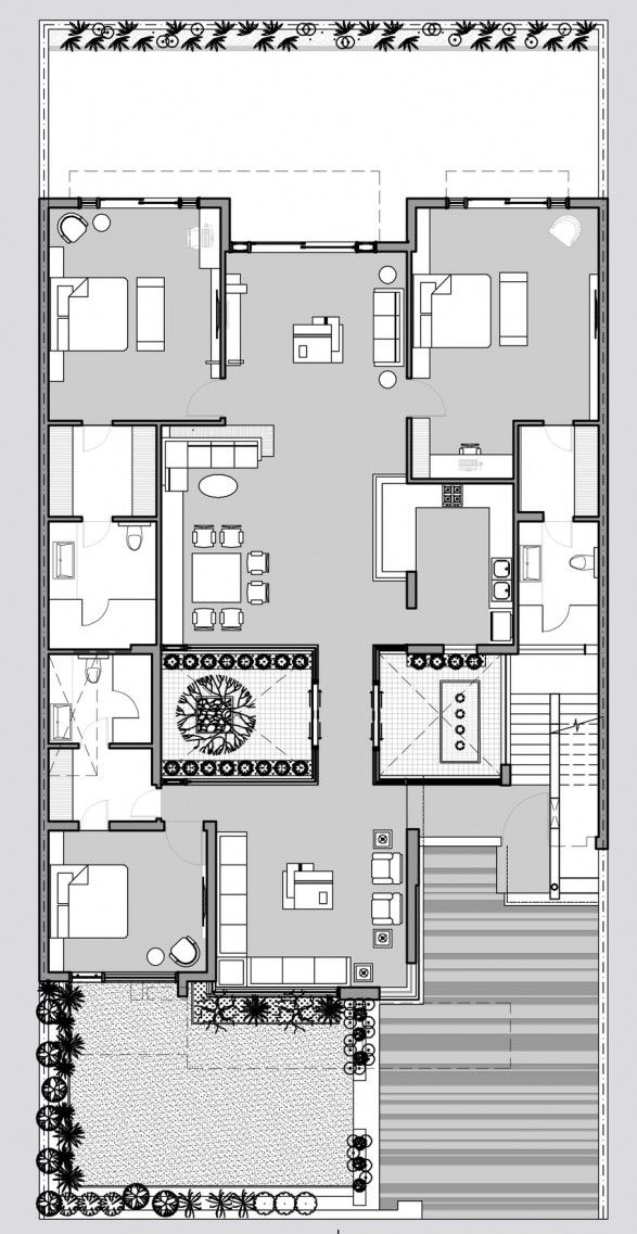 18 best Courtyard House Plans images on Pinterest | Courtyard ...