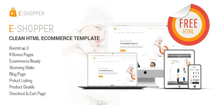 E-Shopper is the best free ecommerce html template.
