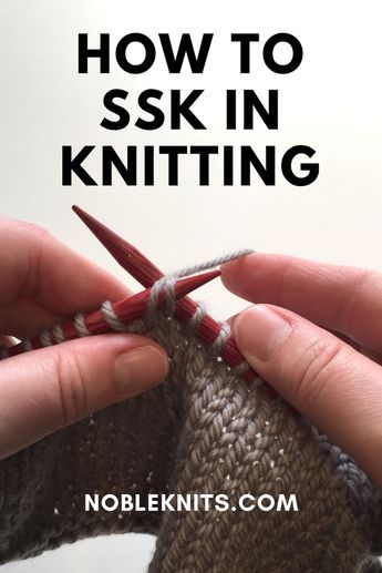 What Does Ssk Mean Knitted Stitches Pinterest Crochet
