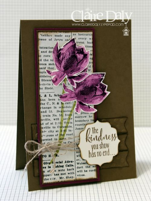 Stampin Up Lotus Blossom Stamp Set for Saleabration 2015 by Claire Daly Melbourne Australia SB86