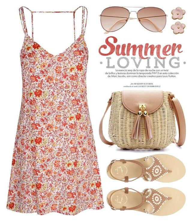 """""""Summer is Almost Here! 1416"""" by boxthoughts ❤ liked on Polyvore featuring Glamorous, Jack Rogers, H&M and Louis Vuitton"""