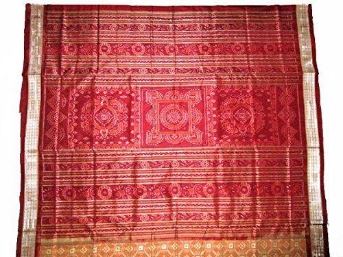 Premium Sambalpuri Silk Saree with Blouse Piece: Amazon.in: Clothing & Accessories