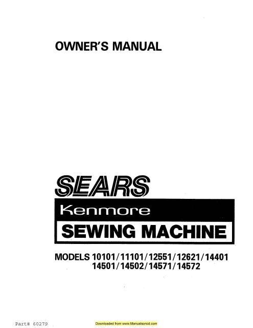 kenmore sewing machine presser foot adjustment