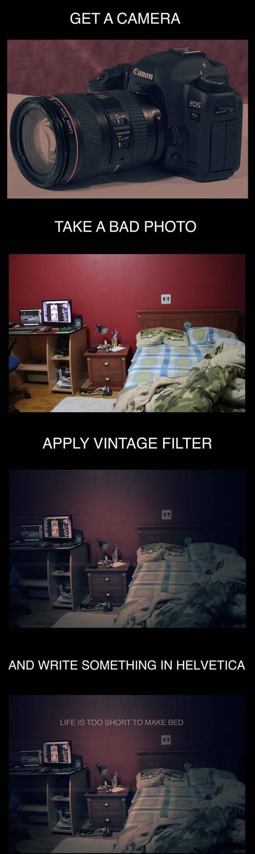 How to take a hipster photo. It's not even funny how true this is.
