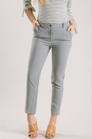 e41afaf76 Laurie Grey Cropped Pants Slacks Outfit, Grey Outfit, Girl Fashion Style, Modest  Fashion