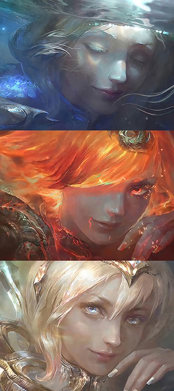 Elemental Lux Water, Fire and Light. League of Legends