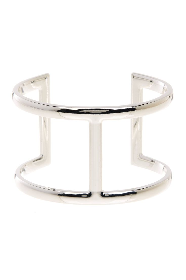 Cutout Squared Cuff by Sterling Forever on @HauteLook