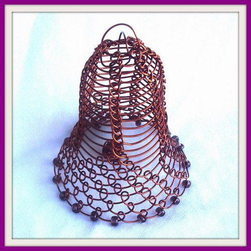 Drátovaný zvoneček wirewrapped bell
