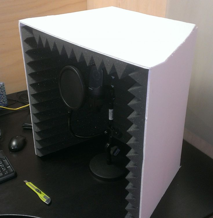 how to build a portable recording booth
