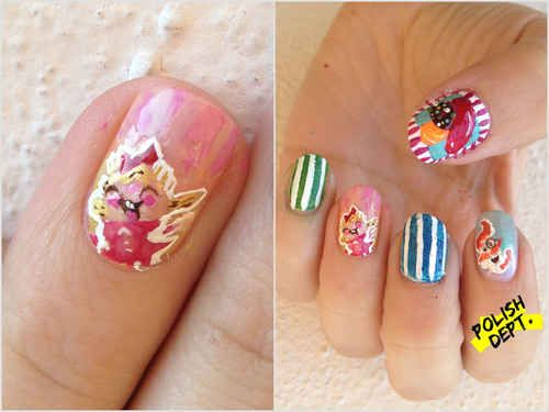 Candy Crush Nail Art   12 Delicious Crafts Inspired By Candy Crush Saga