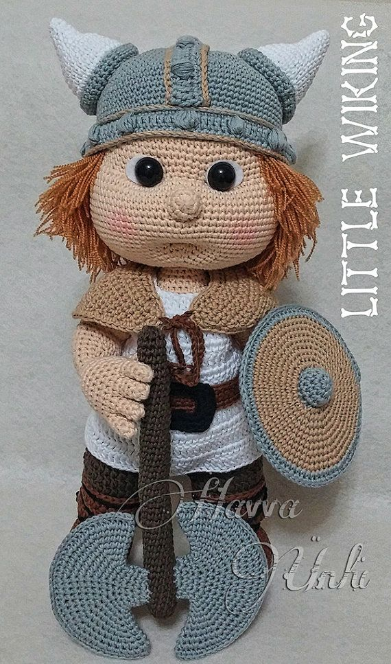 Amigurumi Wikinger : Pattern - Tommy With Viking Costume Boys, Helmets and ...