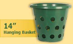 14 inch hanging flower basket