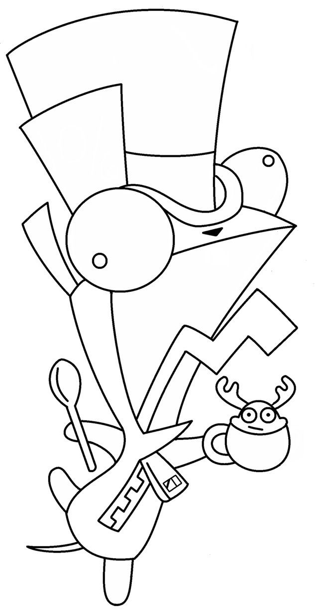 17 best invader zim coloring pages images on pinterest invader