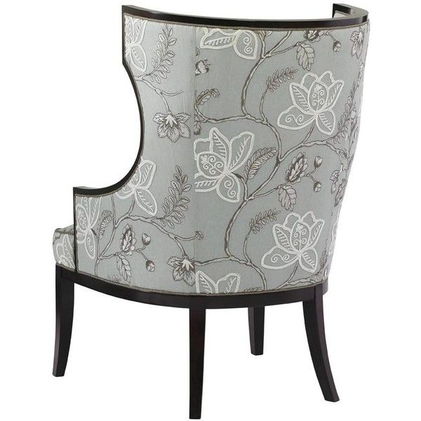 Kensington Place Transitional Dover Wing Chair with Exposed Wood Trim... ❤ liked on Polyvore featuring home, furniture, chairs, accent chairs, wood trim accent chairs, transitional furniture and transitional chairs
