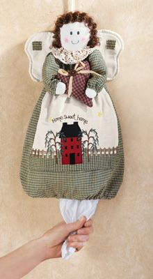 Country Angel Plastic Grocery Bag Holder